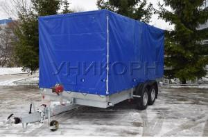 Автомобильный прицеп автовоз 82981А  А3500-СП исп.3 сплошной пол и борта