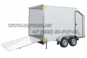Прицеп-фургон легковой двухосный, модель ИСТОК 3793М2 «Автодом-Мото О2» с тормозной системой