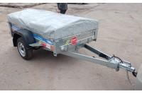 В дополнительной комплектации с каркасом и тентом Н500 мм и подкатным колесом (не установлено)